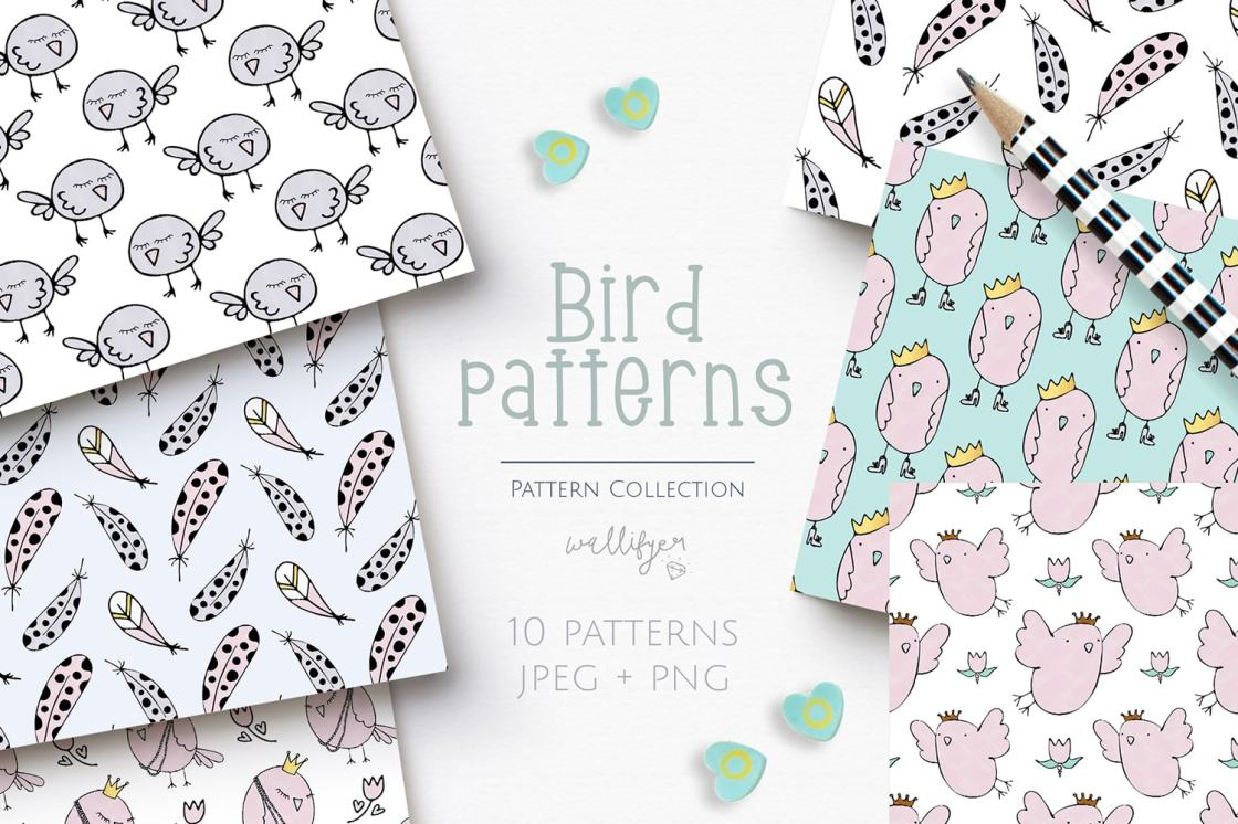 Bird pattern collection by Wallifyer 1