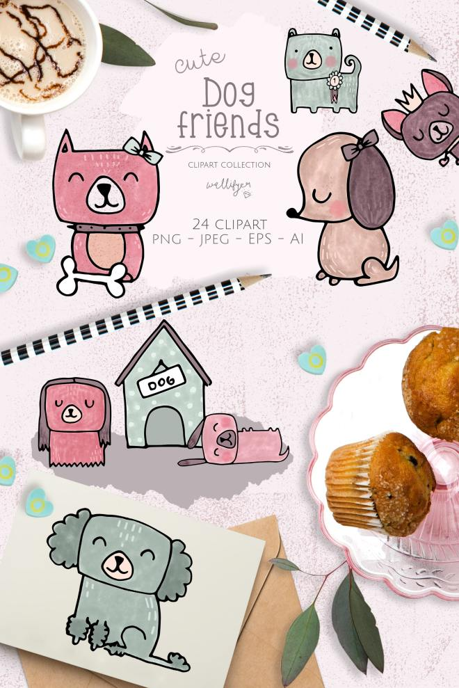 Dog clipart collection by Wallifyer-min