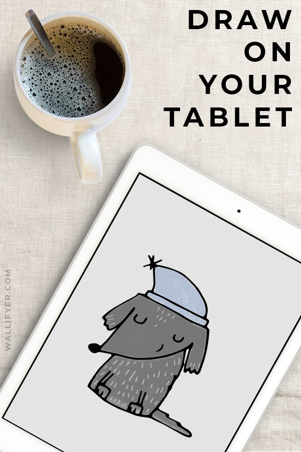 Draw on your tablet with Wallifyer Clipart