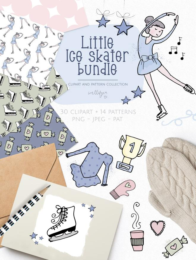 Little Ice-princess clipart collection by Wallifyer Clipart