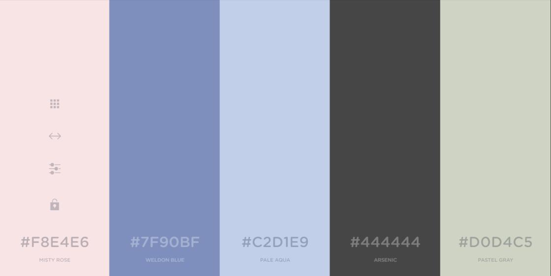 Wonderful color palettes by Coolors