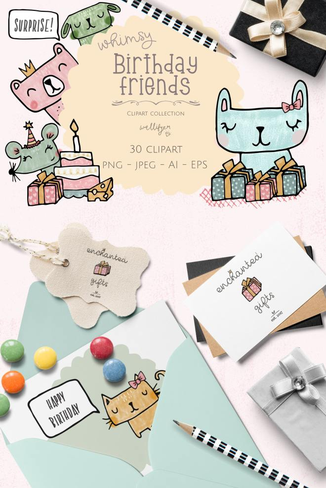 Birthday Clipart Collection by Wallifyer Clipart 1